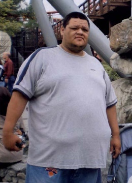 Arturo - before picture - weighed over 400 lbs before starting the nutritional program at UCLA RFO Weight Loss Program in Jan. 2008.