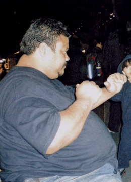 Gilberto - before picture - weighed over 400 lbs before starting the nutritional program at UCLA RFO Weight Loss Program in Jan. 2008.